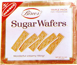 Biscos Sugar Wafers by Nabisco, old box